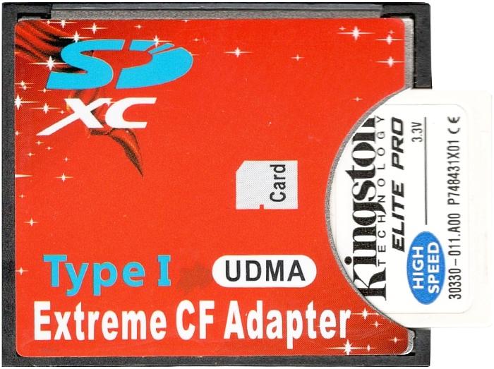 Adapter SD SDHC SDXC / CF na kartę CF 128GB WaWa