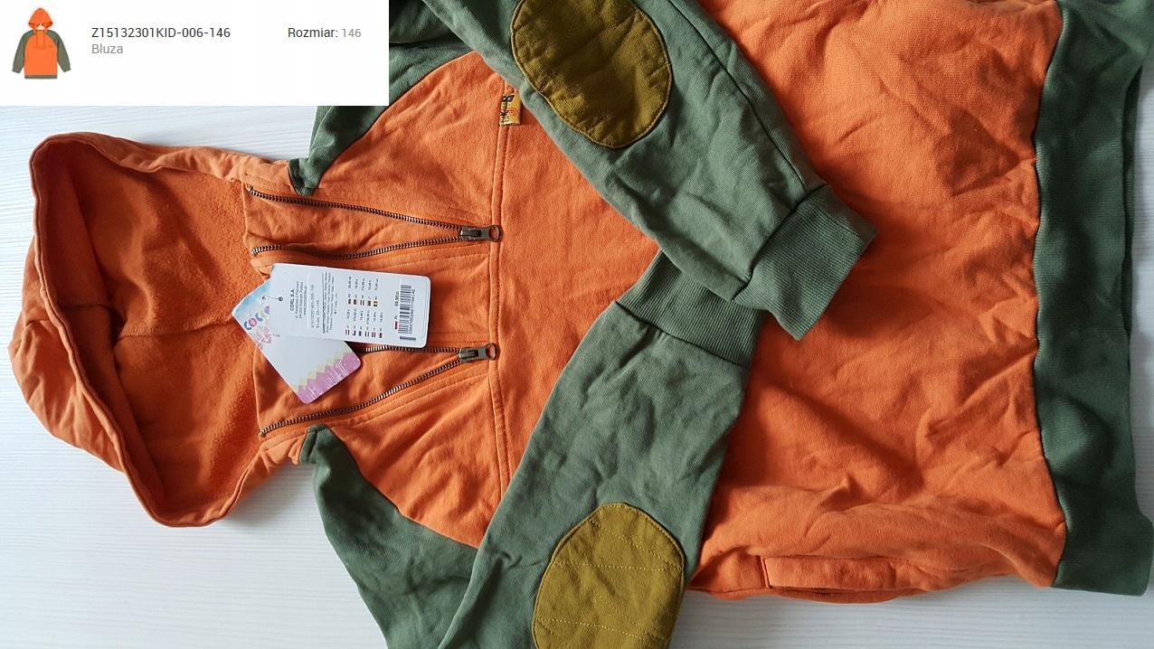 coccodrillo bluza 146 nowoczesna khaki pomarańcz