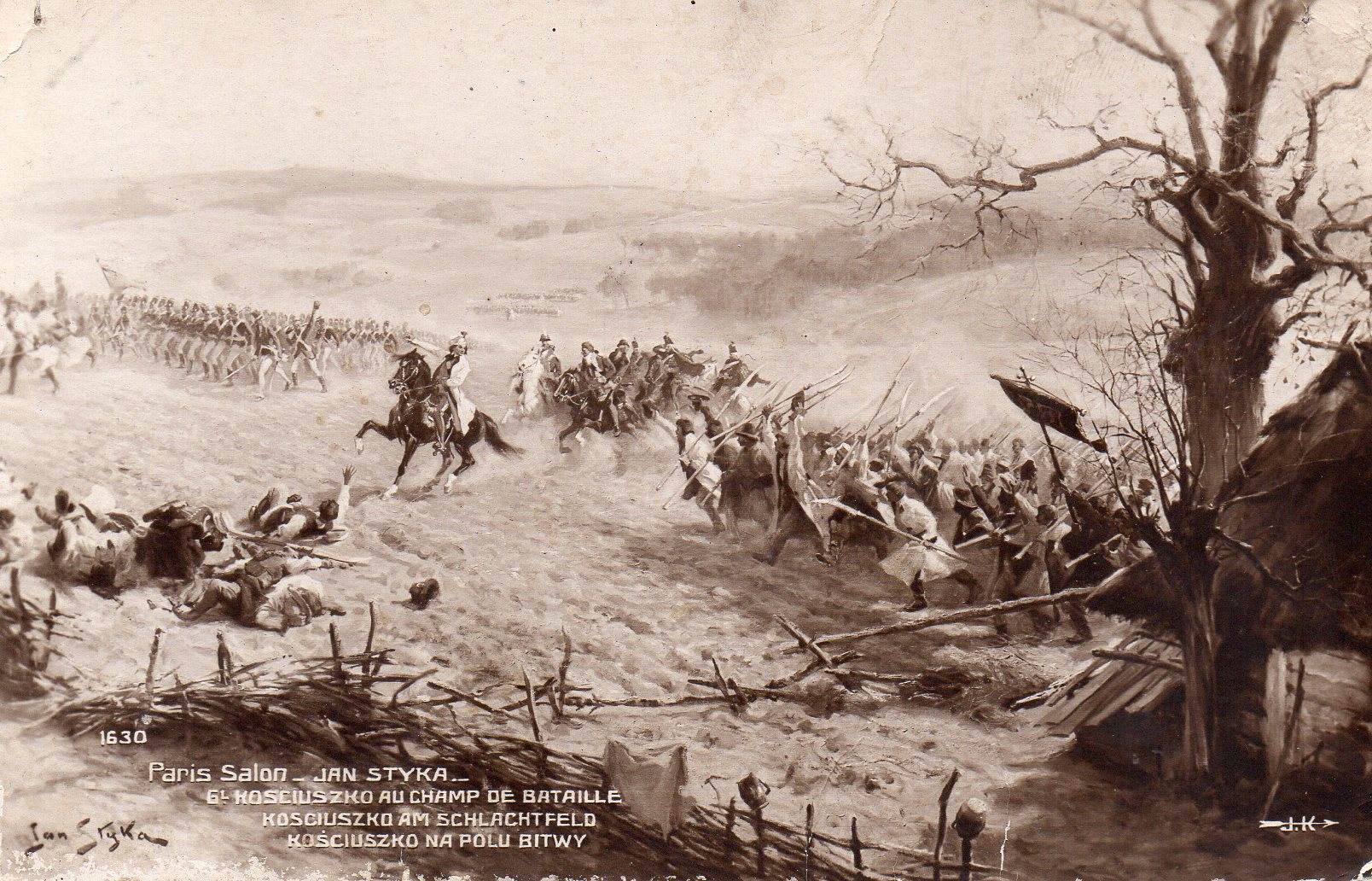 Jan Styka - Kościuszko na Polu Bitwy