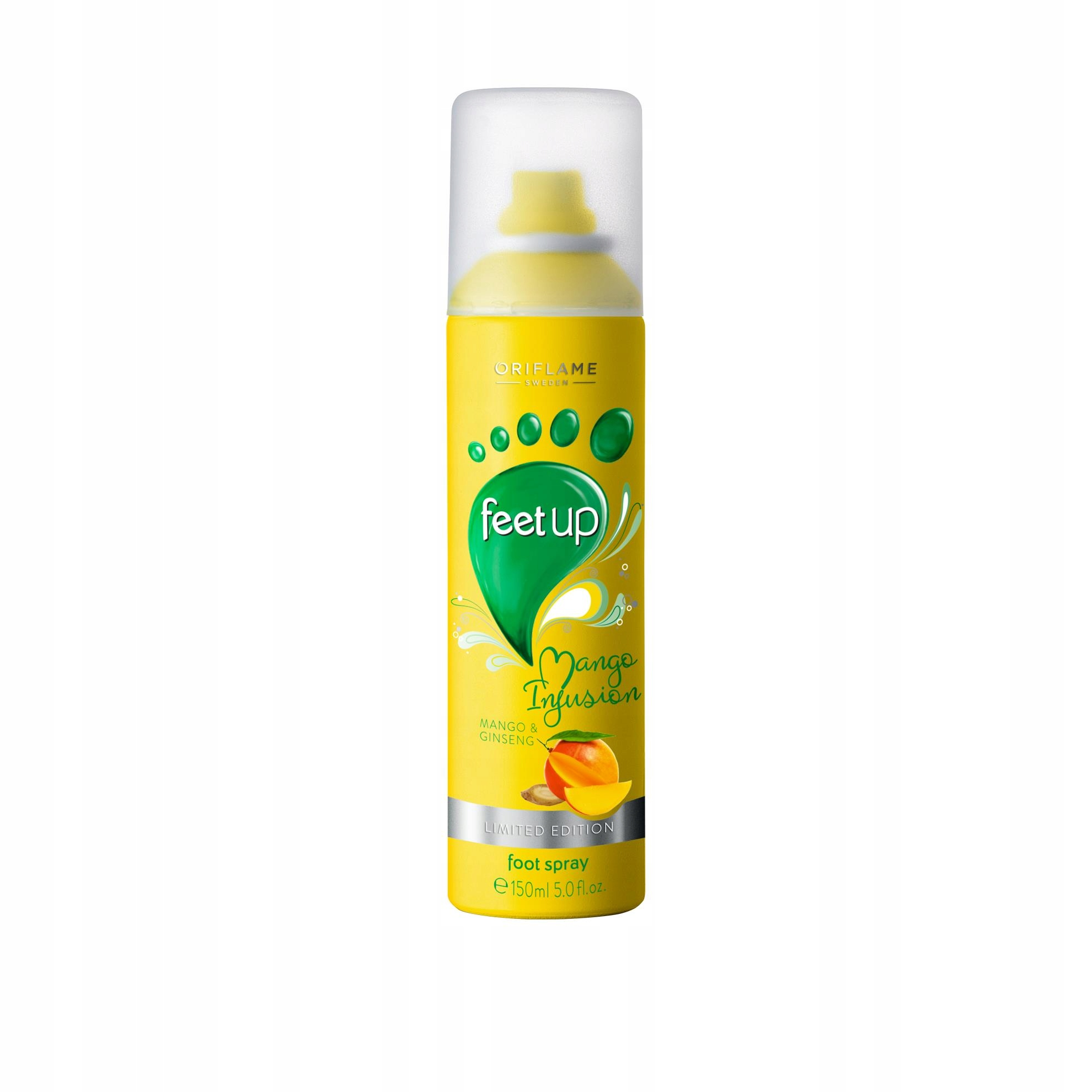 Spray z mango i żeń-szeniem Feet Up Mango Infusion