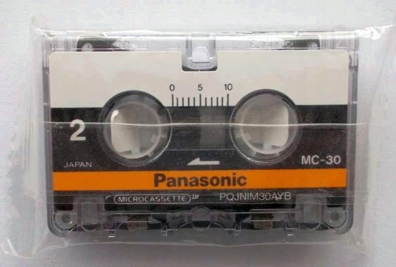 MICROCASSETTE Panasonic MC-30 - Nowa - Zafoliowana