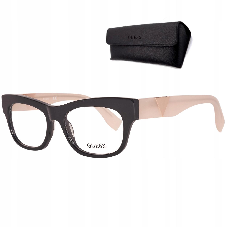 Oprawki okularów damskie Guess GU2375 Black Pink