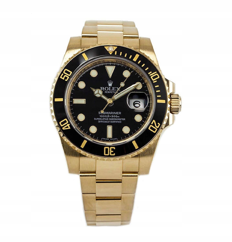 Złoty Rolex Submariner
