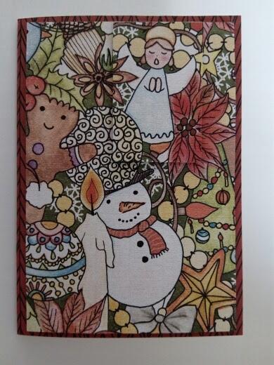 ręcznie robiona kartka A6 Boże Narodzenie +koperta