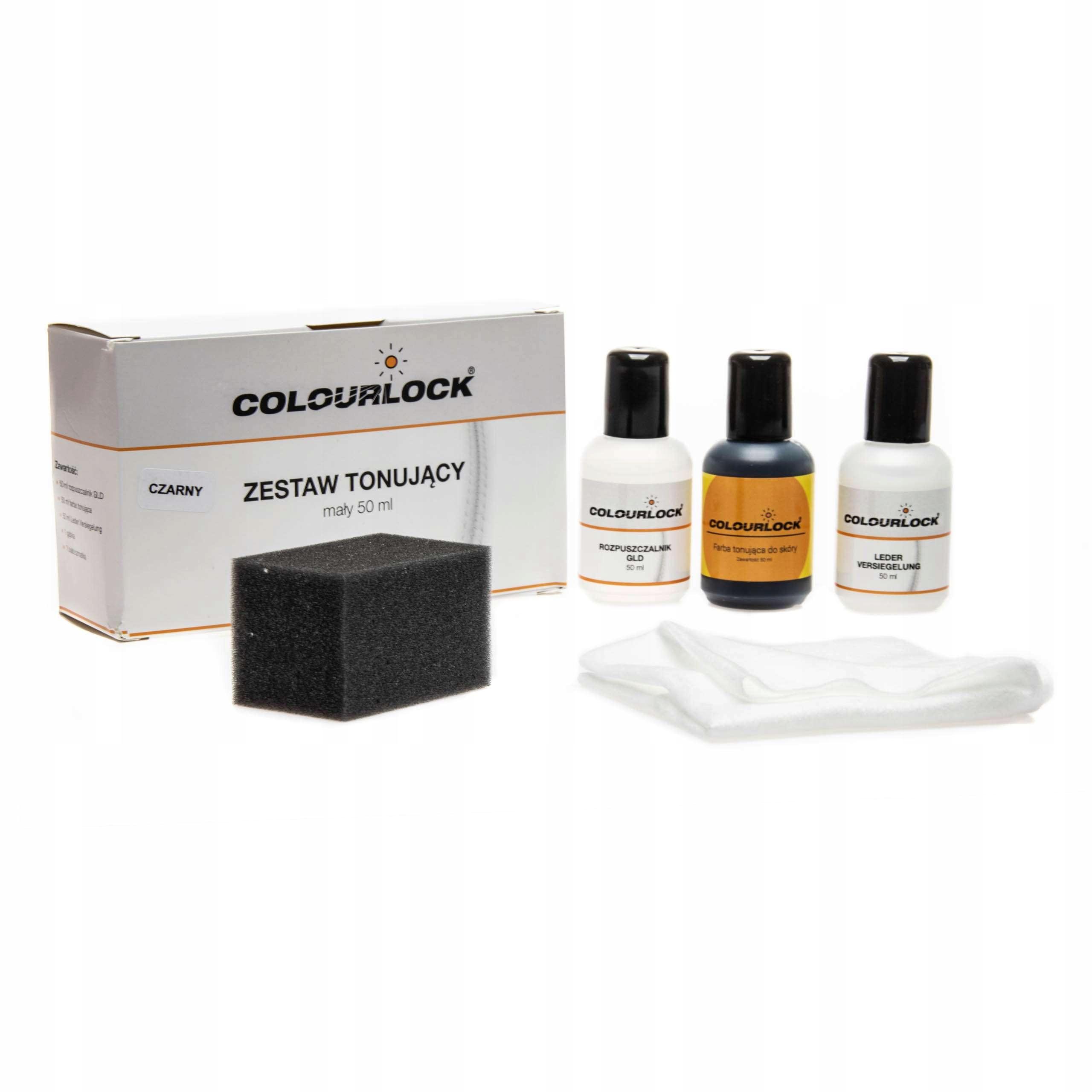 Colourlock Zestaw tonujący skóry czarny - 50 ml