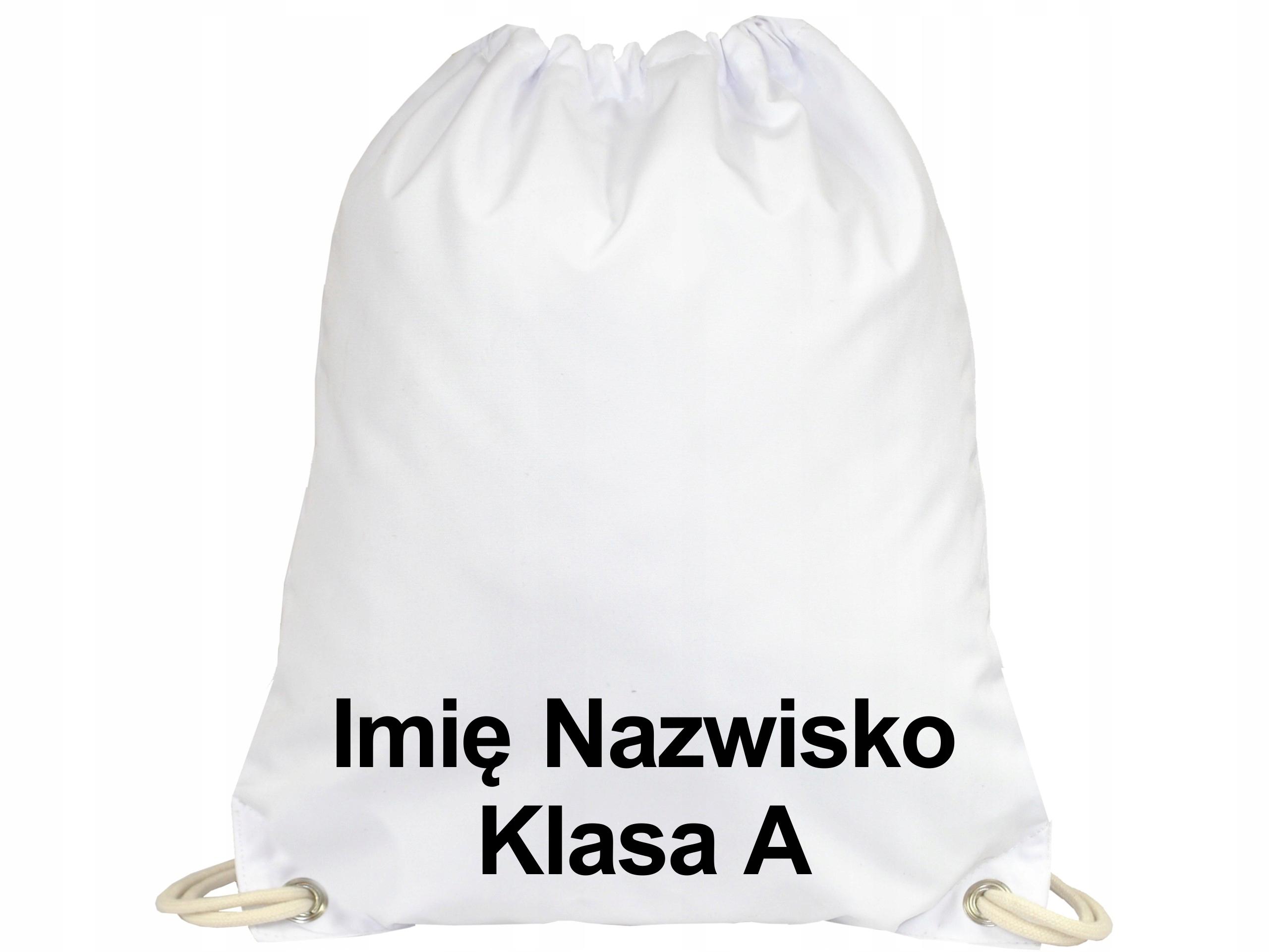 Plecak Worek na Buty Wodoodporny Imię Dziecka A4