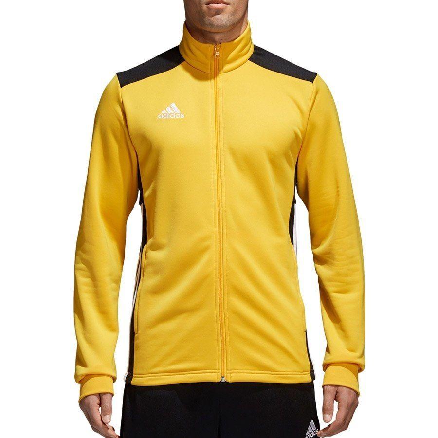 Bluza Męska Piłkarska adidas kieszenie żółt XXL