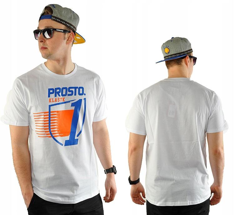 -40% Koszulka L PROSTO KLASYK LIGHTNING biała
