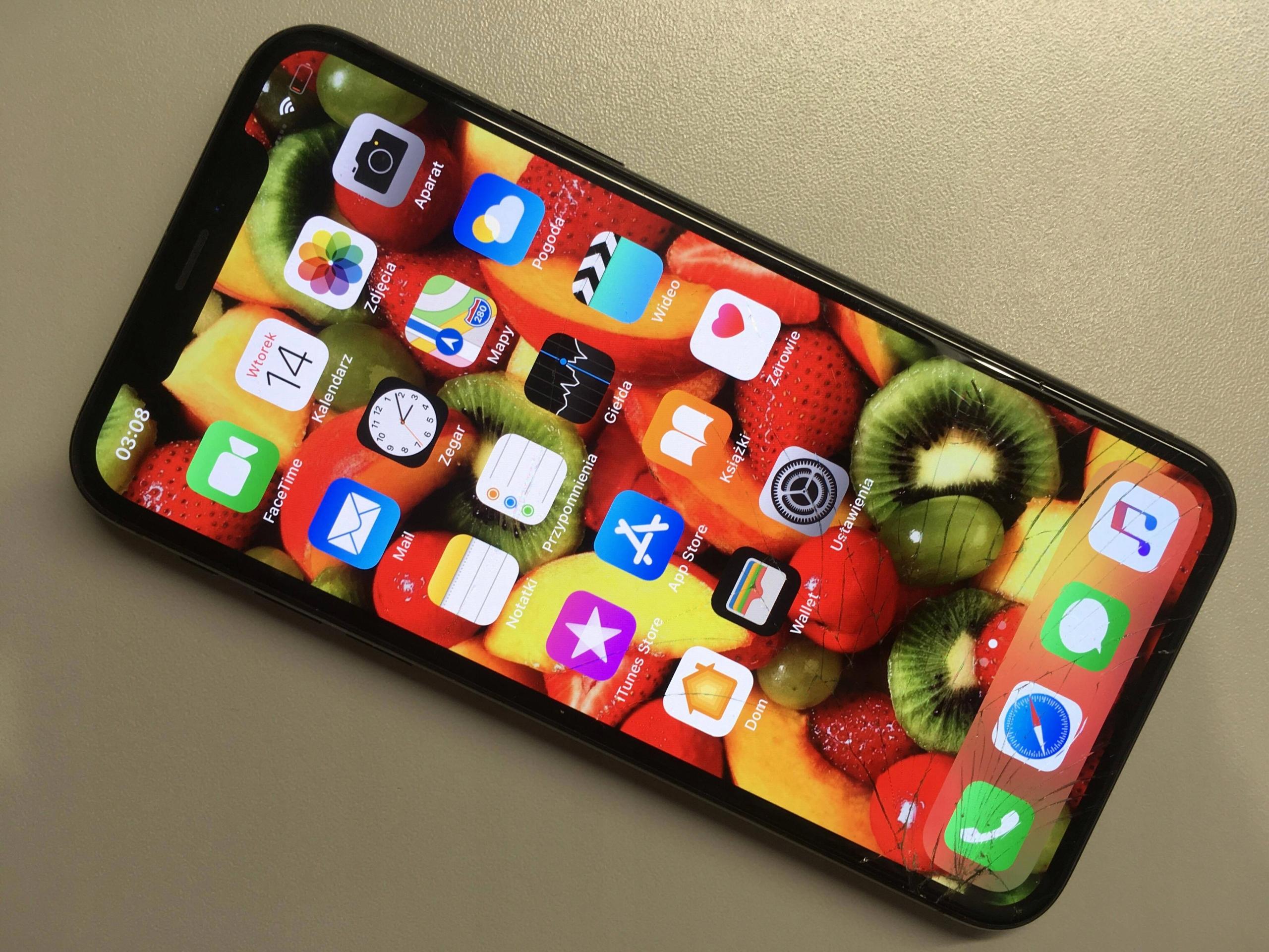    ORYG WYŚWIETLACZ APPLE iPhone X Zbity   