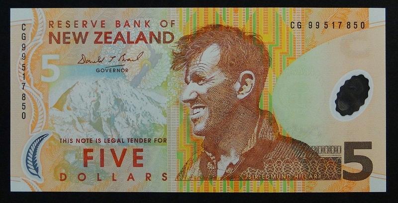 1999 Nowa Zelandia - 5 dollars