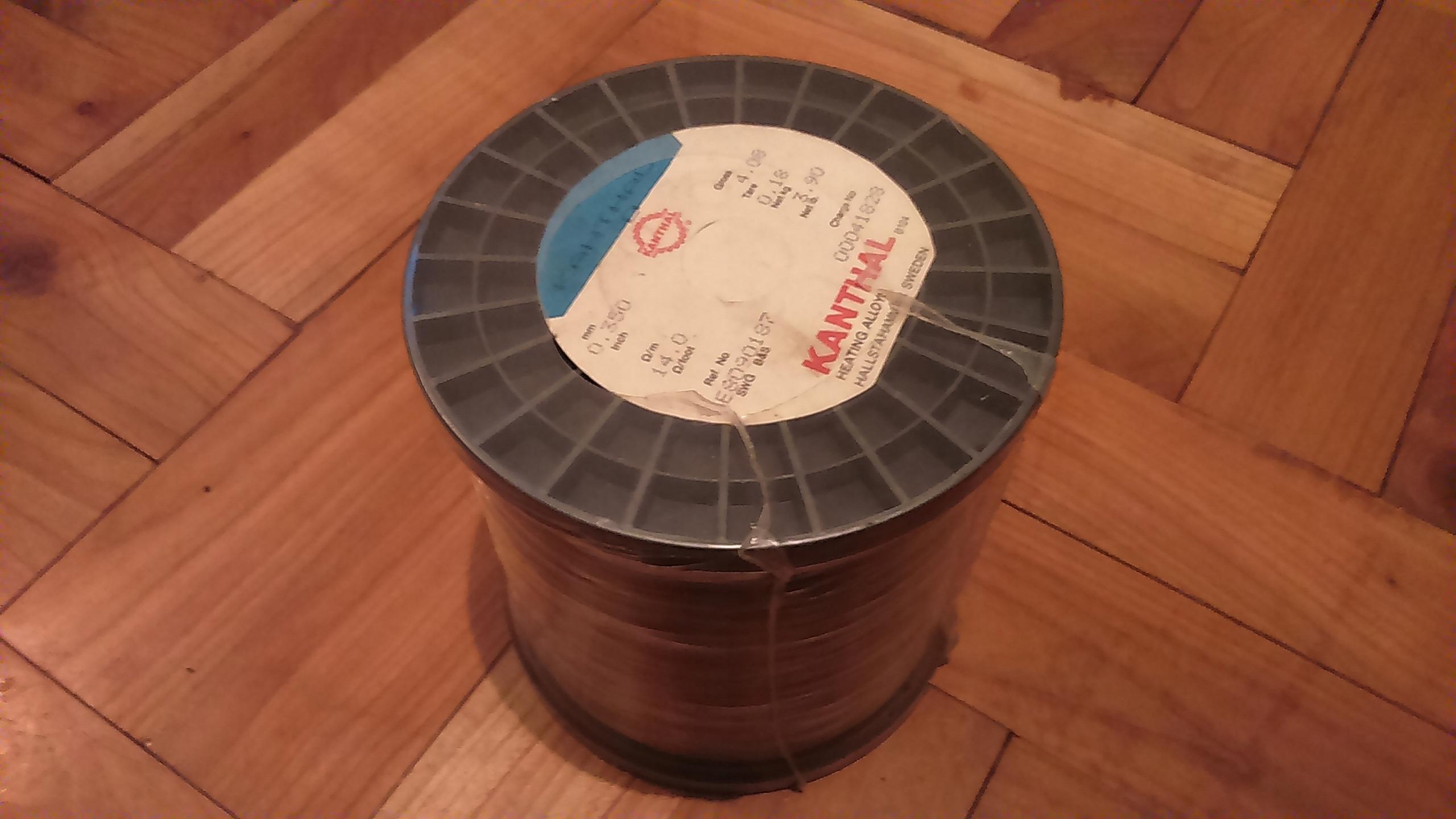 drut kanthal średnica 0,35 cała szpula waga 4kg