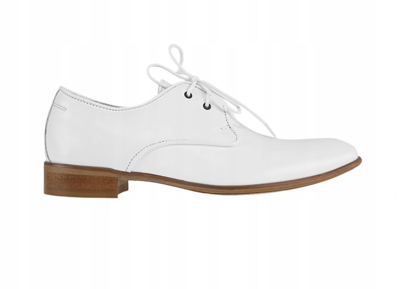 35Scarpe-esclusive wizytowe półbuty białe skórzane