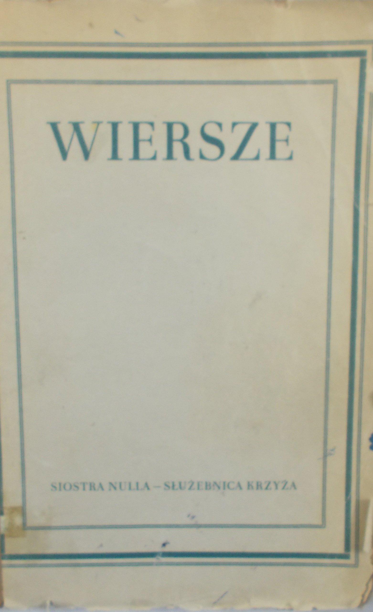 Siostra Nulla Wiersze R 1947 7146552640 Oficjalne