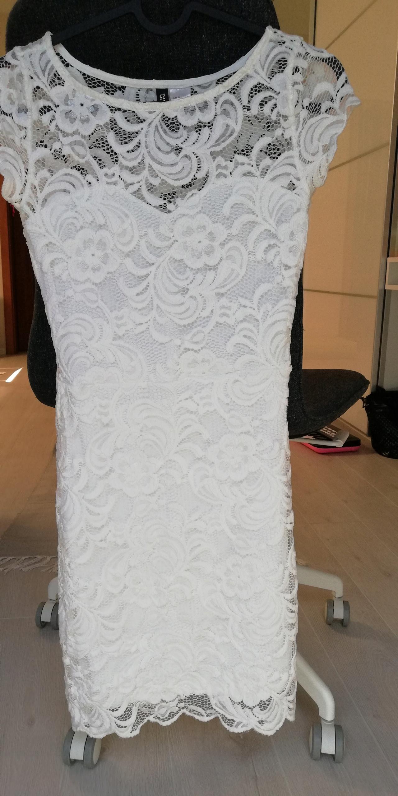 Koronkowa sukienka hm, stan idealny r. 34