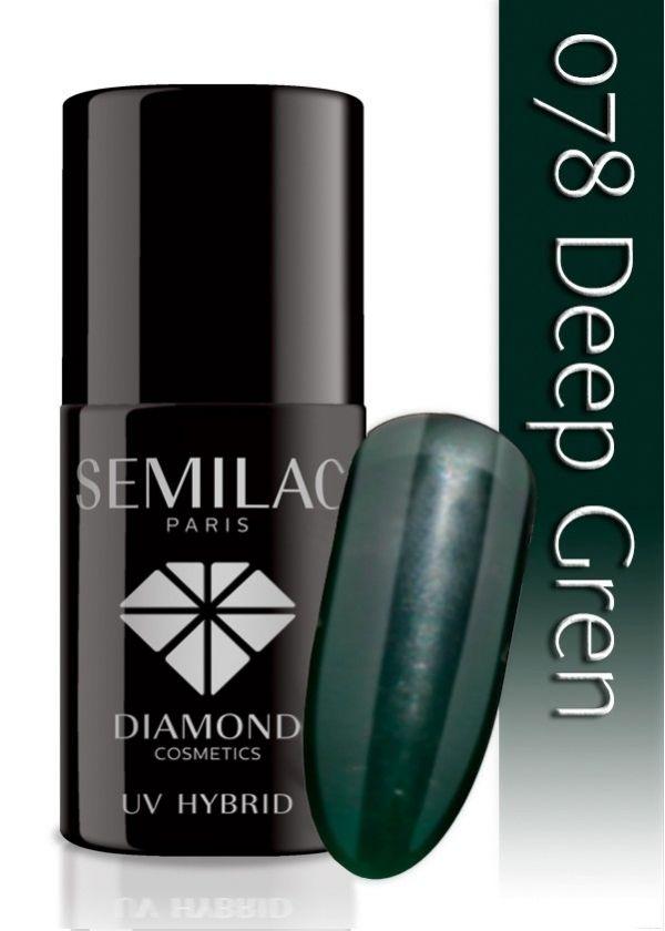 Semilac UV Hybrid lakier hybrydowy 078 Deep Green