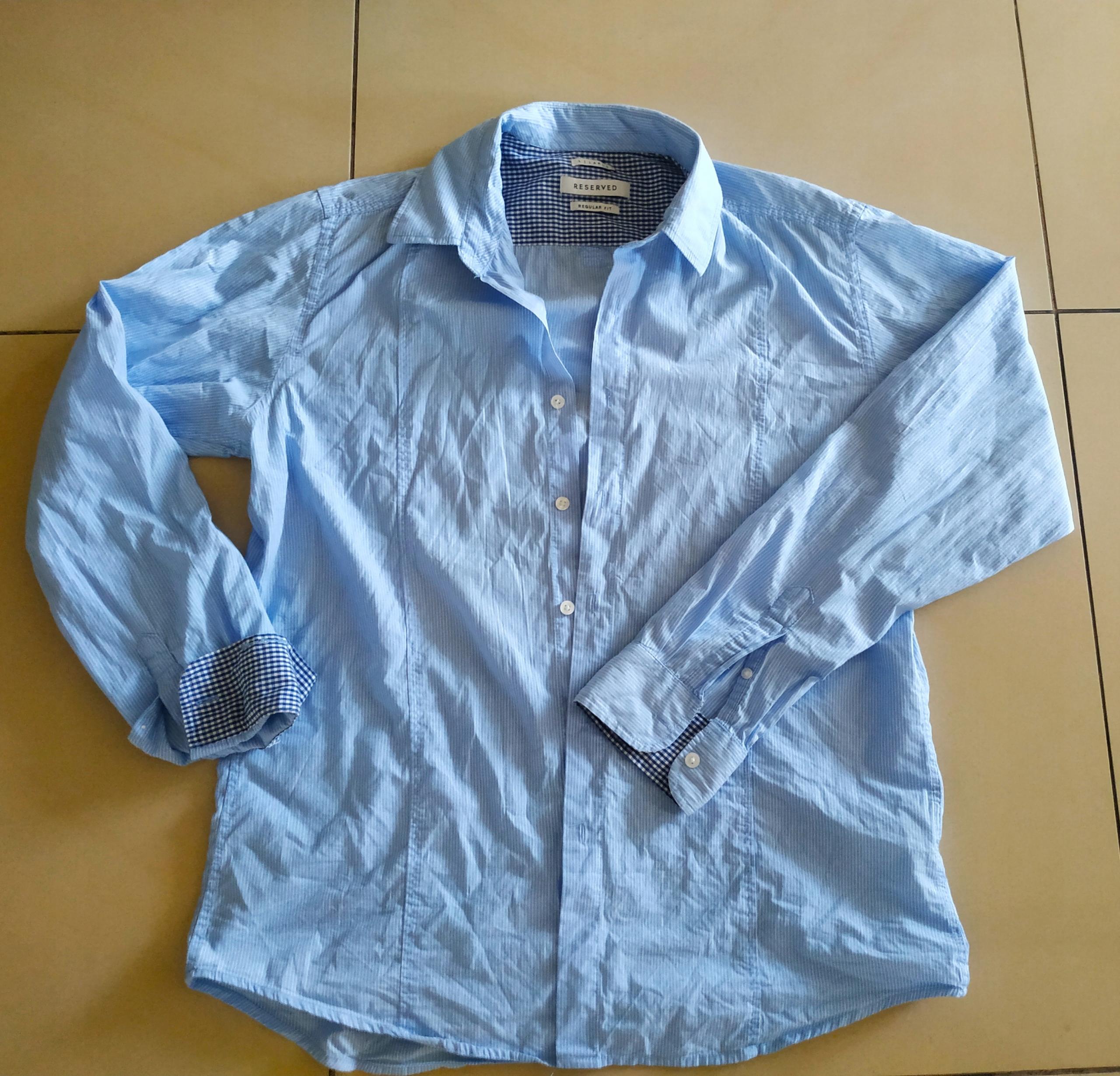 Koszula Reserved biała niebieska L
