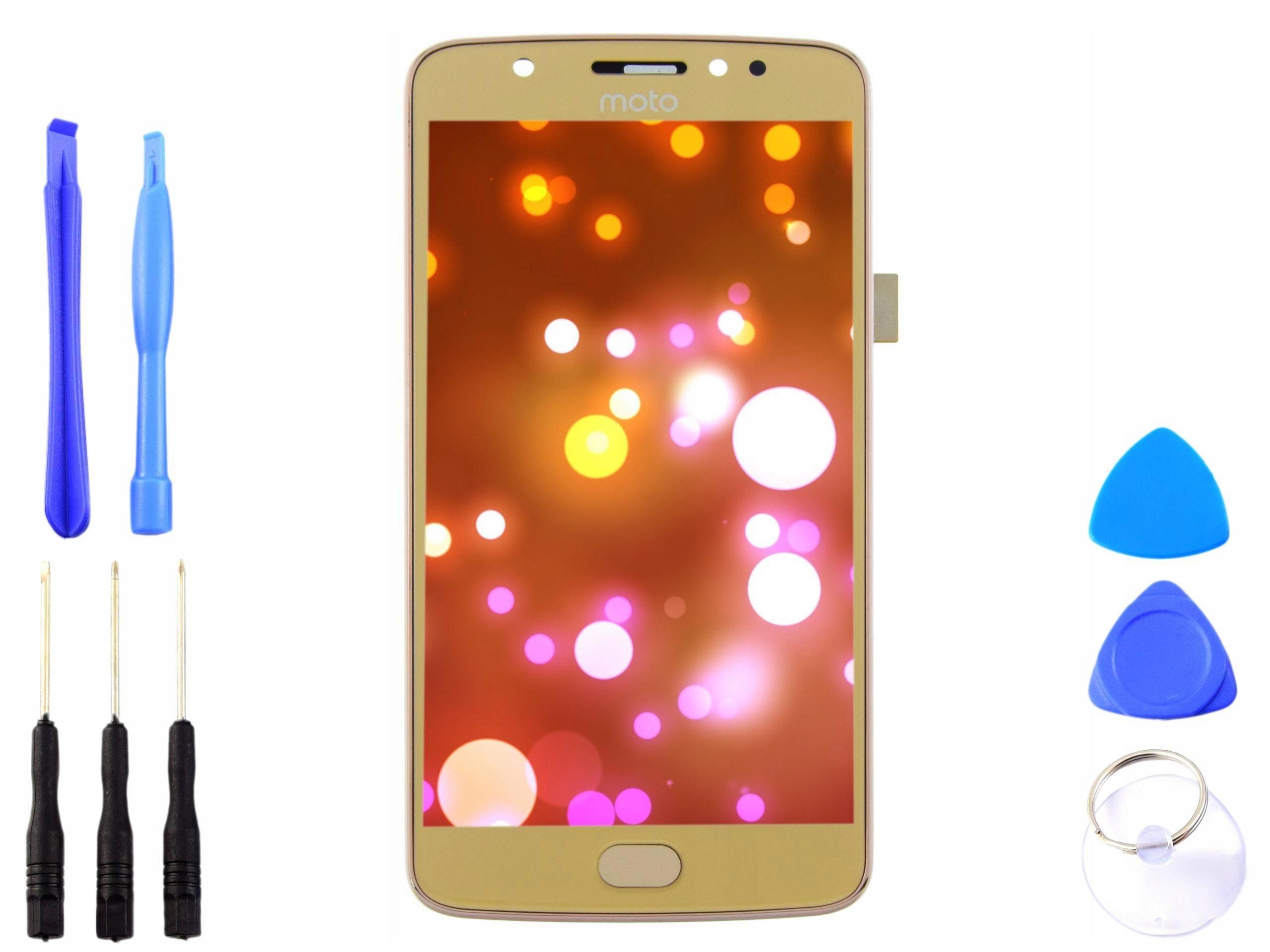 Wyświetlacz LCD dotyk RAMKA Motorola MOTO E4 złoty
