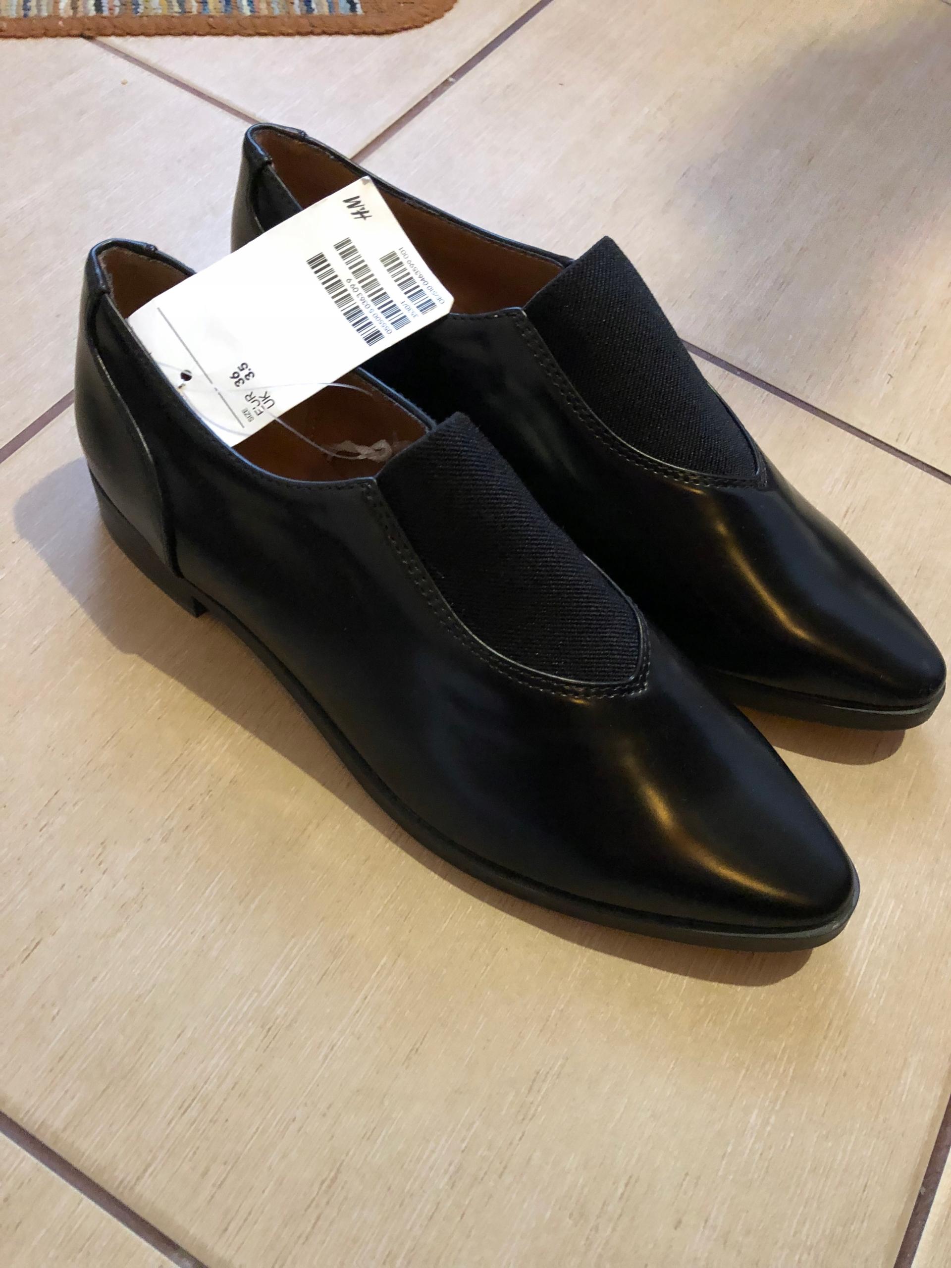 Nowe buty H&M 36 szpic czarne