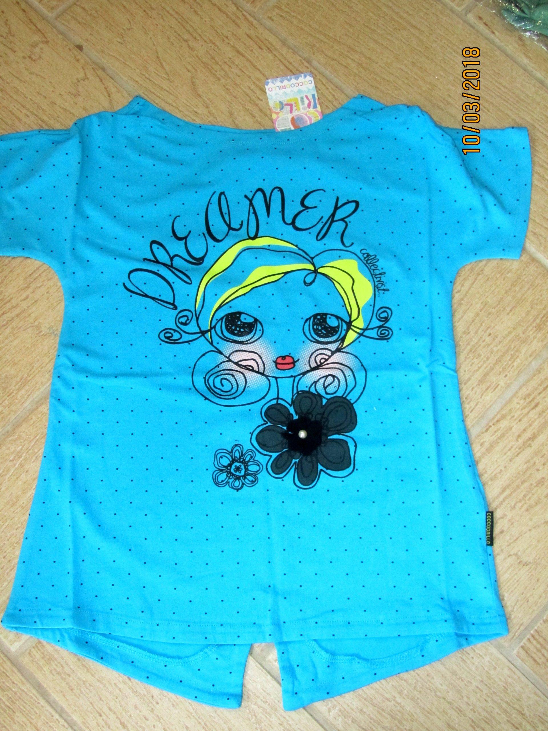 NOWY t-shirt turkusowy 152 12lat Coccodrillo