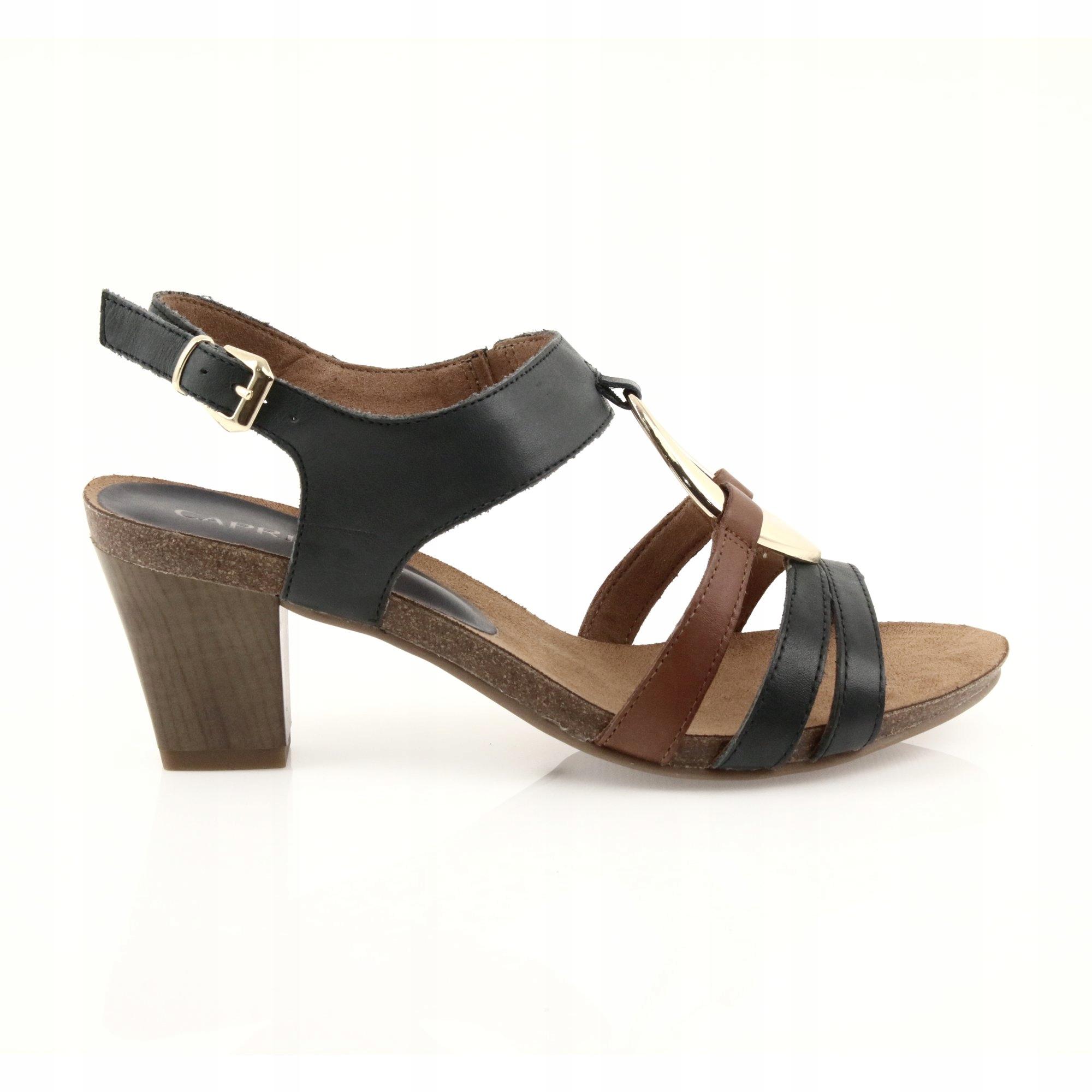 Caprice sandały damskie brązowe żółte r.40,5