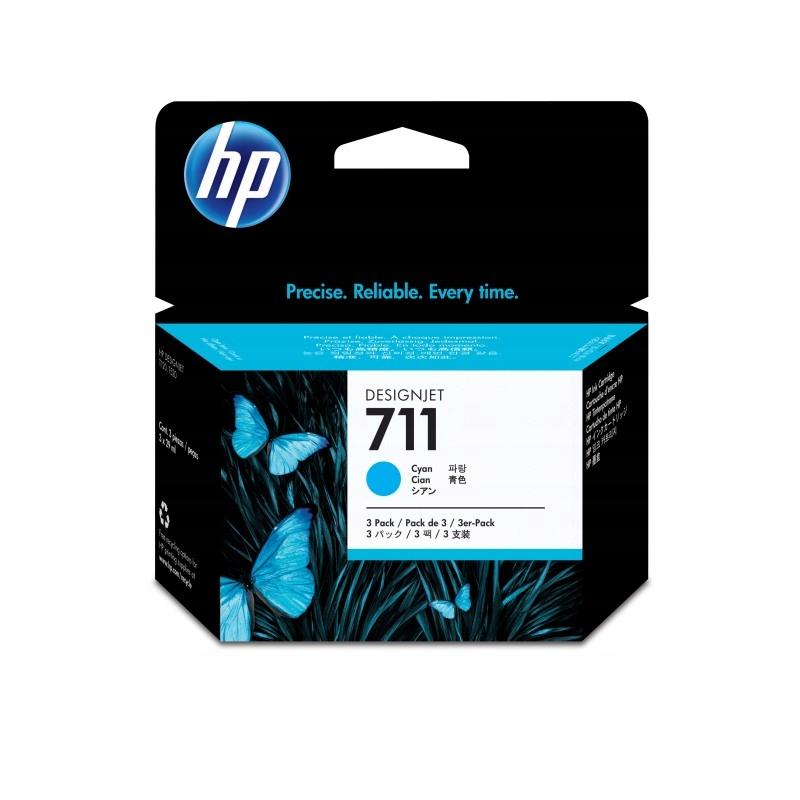 HP INC. Tusz 711 29ml Cyan 3-Pack CZ134A