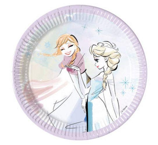 Talerzyki papierowe Księżniczki Frozen 20cm 8szt