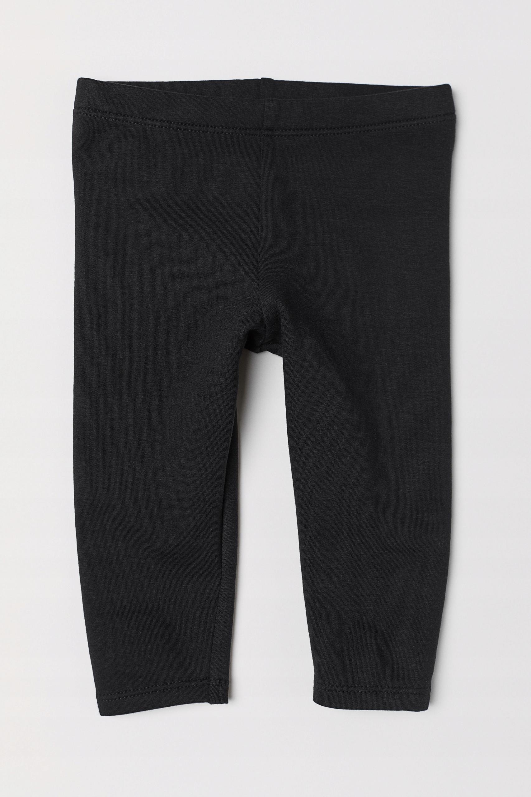 H&M czarne dresowe legginsy jak nowe 68