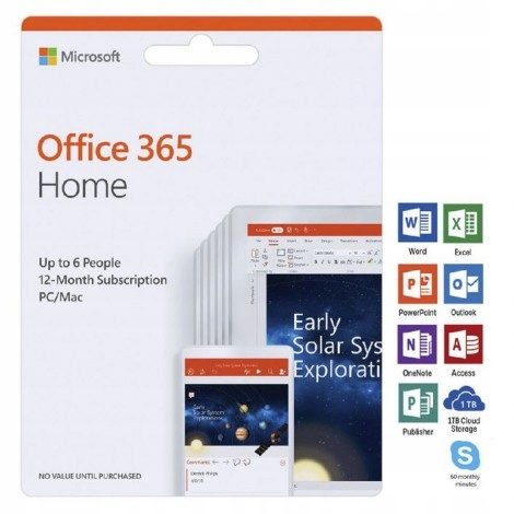 Microsoft OFFICE 365 Home - 6 stanowisk - okazja