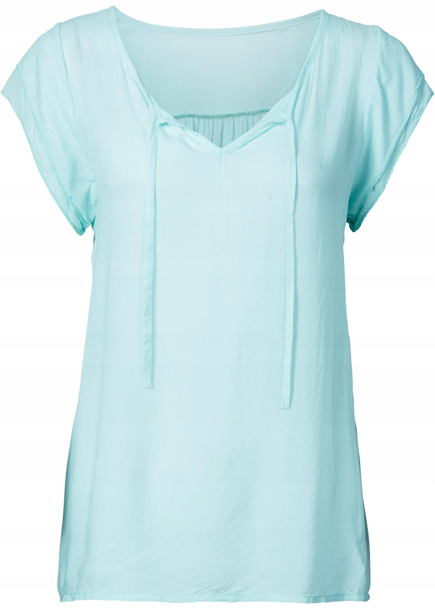 Bluzka elegancka,delikatna turkusowa R 46
