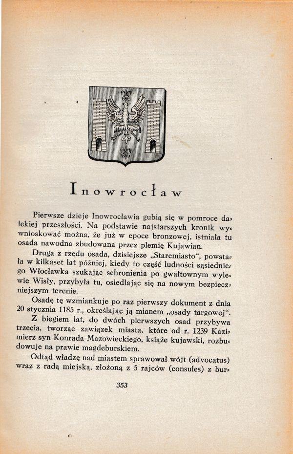 Inowrocław - przewodnik / informator - 1929r