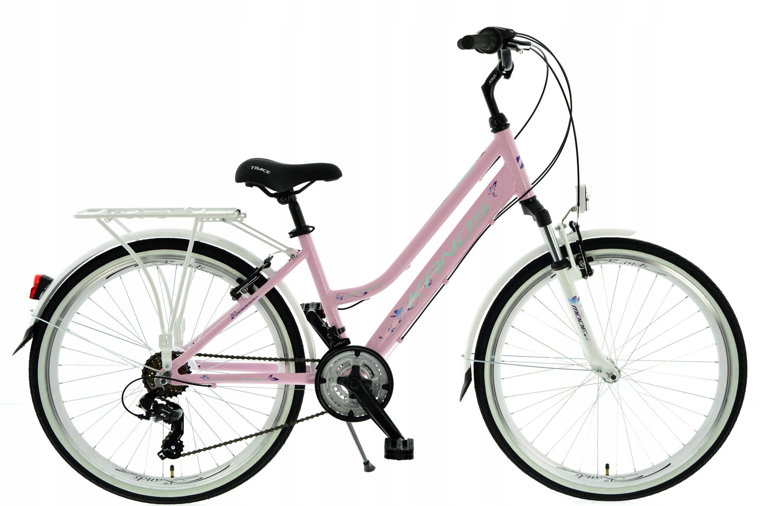 Rower miejski Kands Aurelia 26 Różowy Shimano