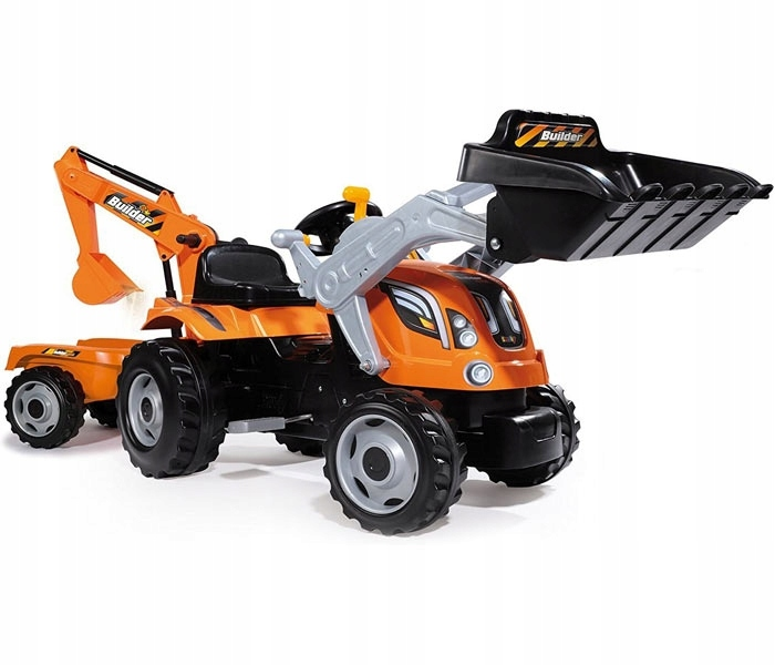 SMOBY Traktor MAX z Przyczepą i Łyżką