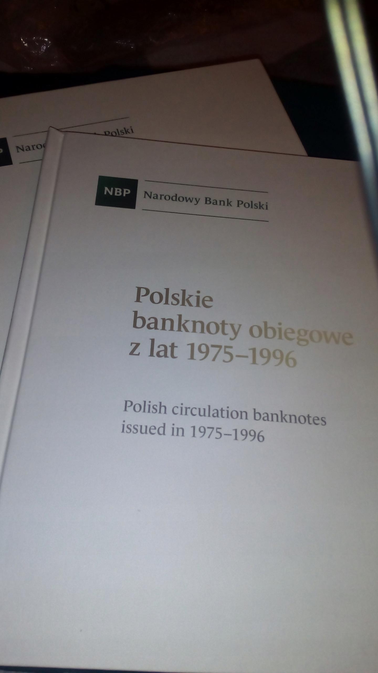 PUSTY ALBUM POLSKIE BANKNOTY OBIEGOWE 1975 - 1996