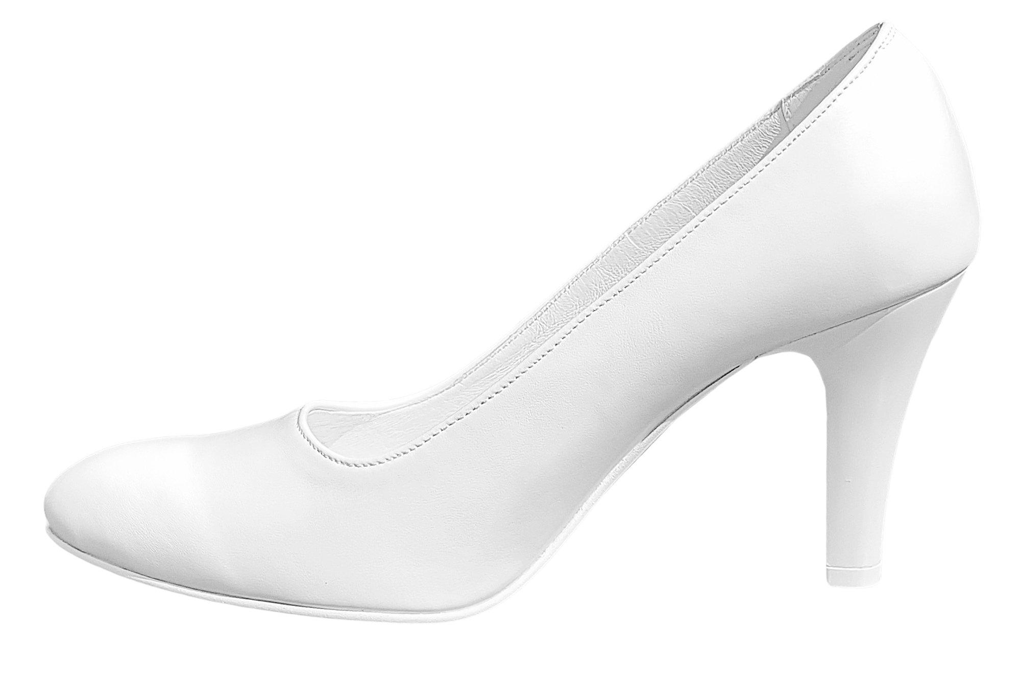 6f3b07db Czółenka ze skóry buty ślubne wsuwane OUTLET 37 - 7612368705 ...