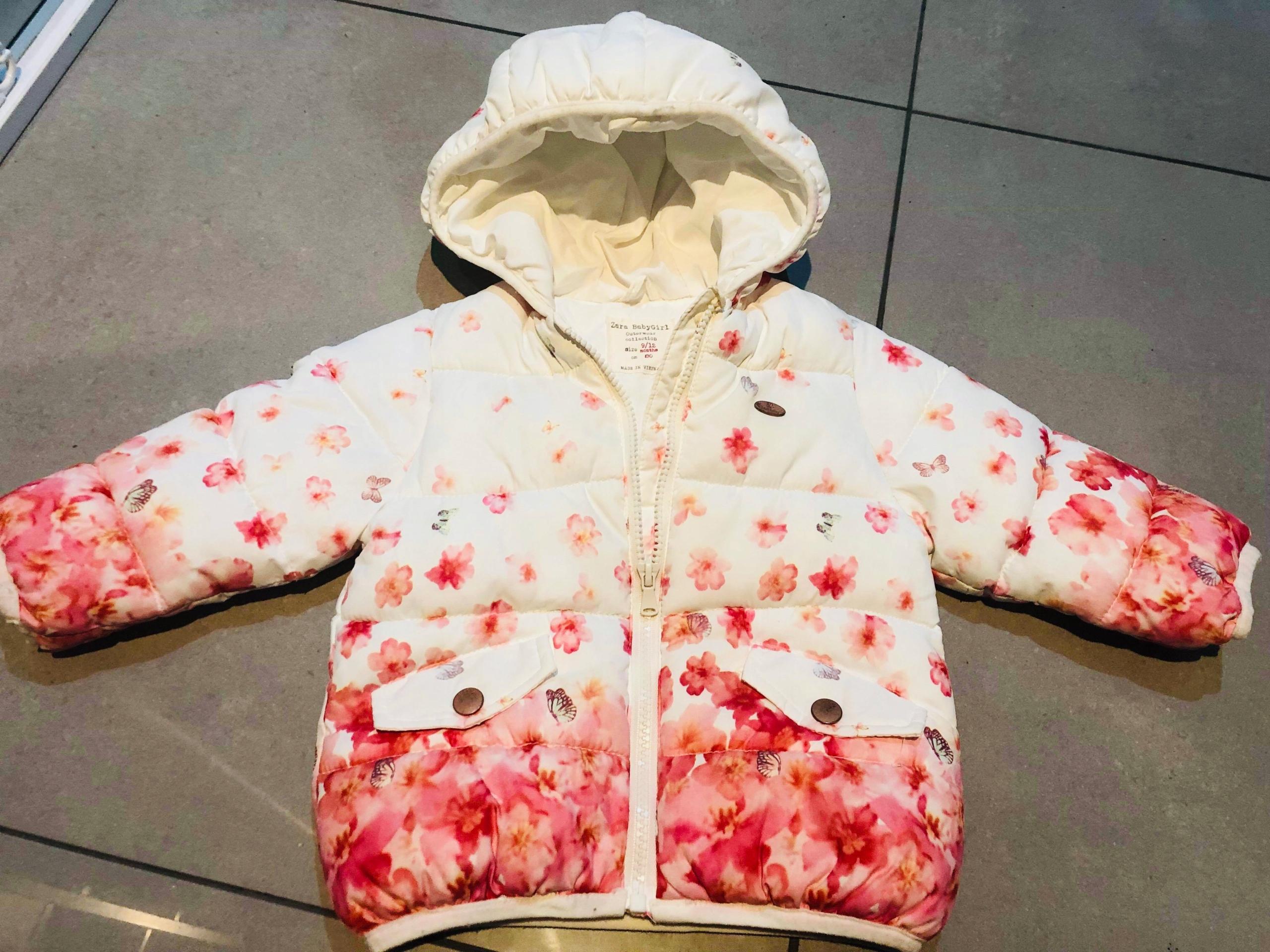 Kurtka Zara r. 80 w kwiatki