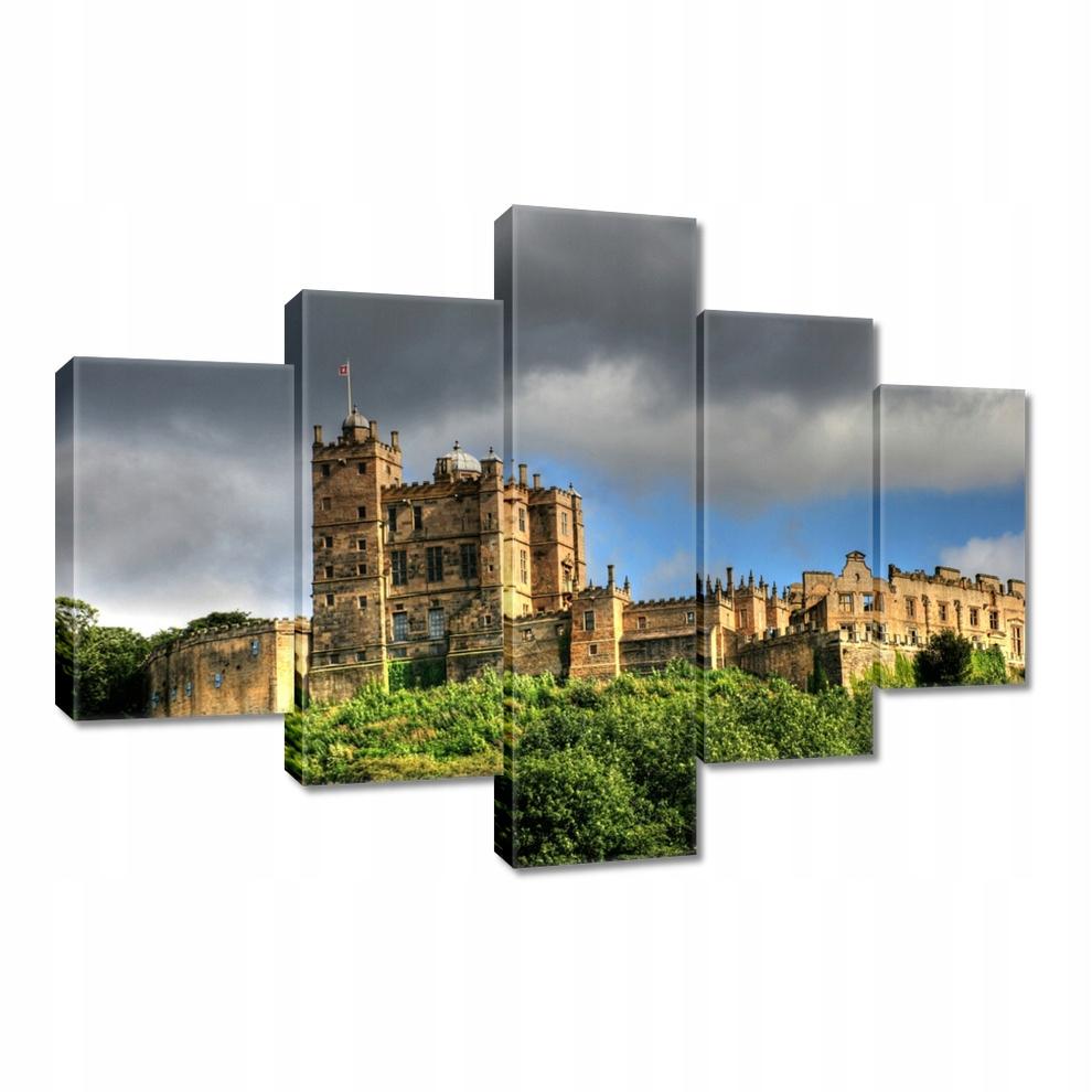 Obrazy 100x70 Zamczysko pod ciemnymi chmurami
