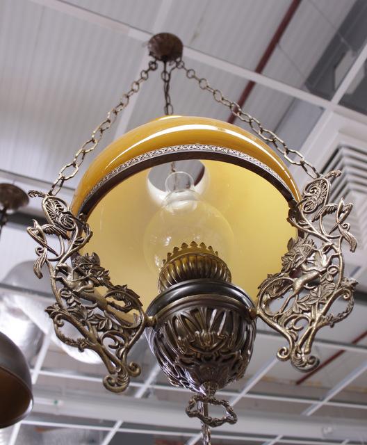 7685f żyrandol dekoracyjny a'la lampa naftowa