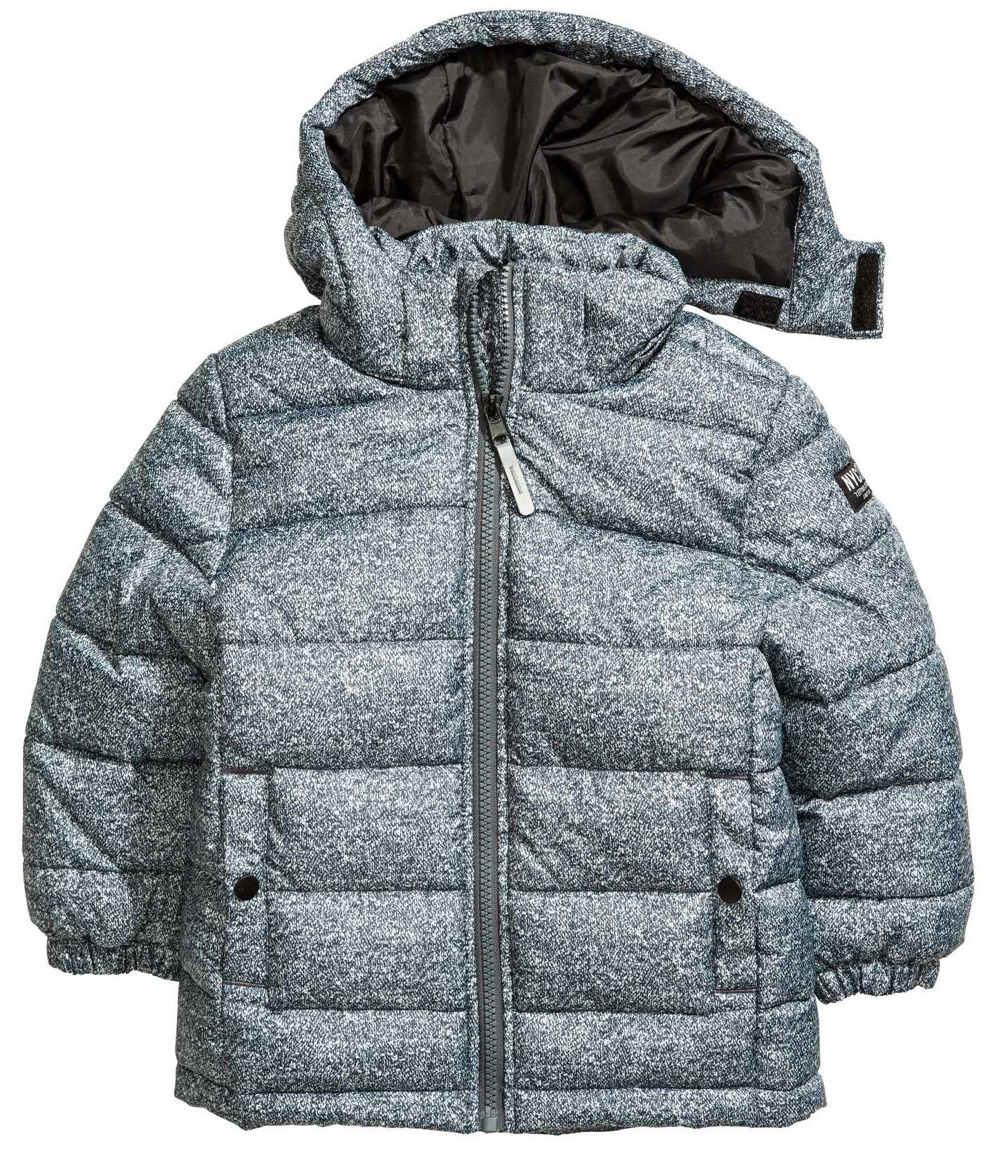 H&M zimowa MELANŻ KURTKA watowana r.128