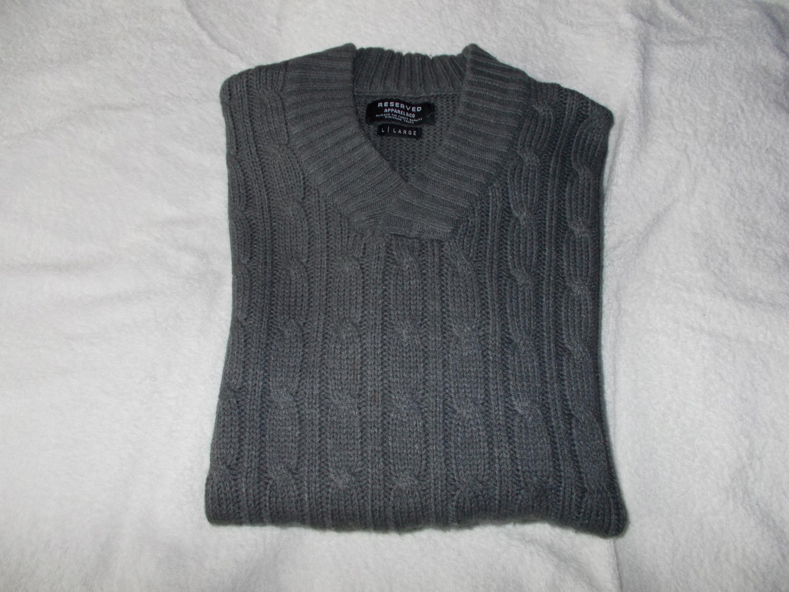 Sweter męski Reserved L jak nowy