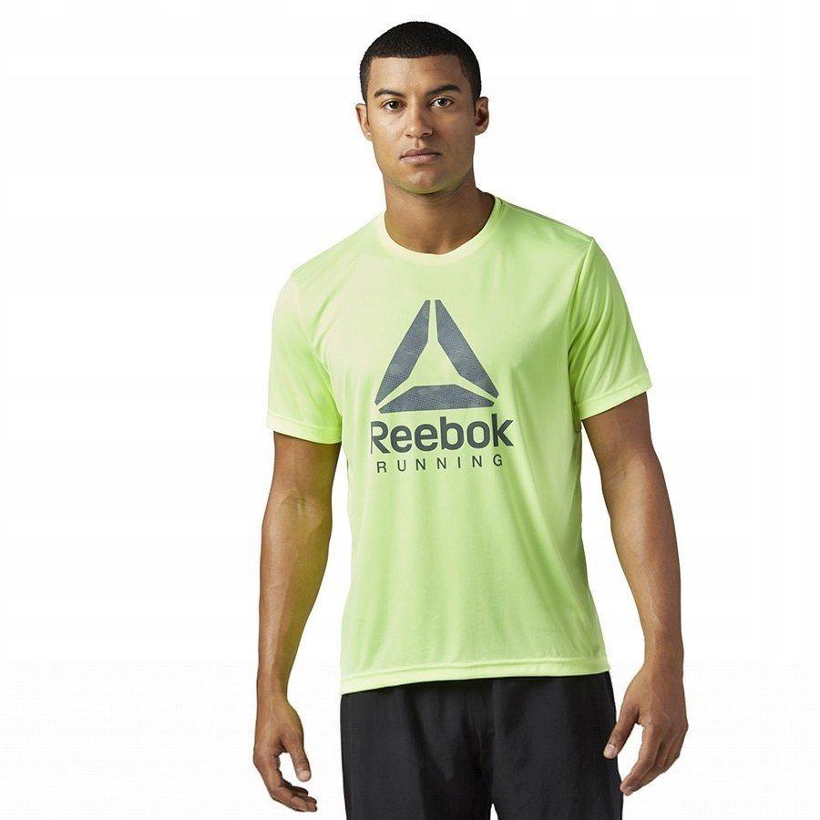 Koszulka Męska do biegania Reebok Run zielon XL