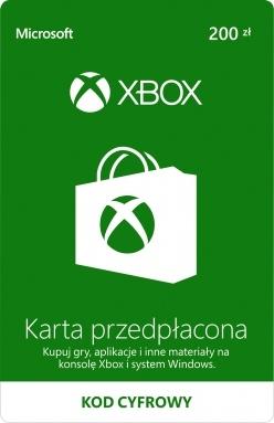 KARTA PRZEDPŁACONA XBOX ONE LIVE 200ZŁ PREPAID KOD