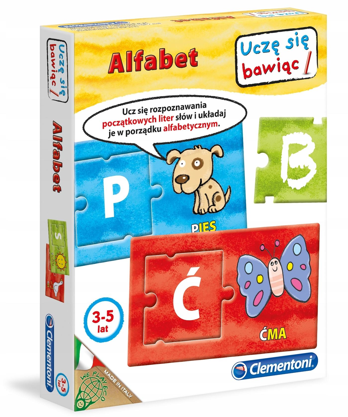 Gra Alfabet Uczę się bawiąc uczę się bawiąc TANIO