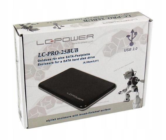 """Obudowa do dysku LC-POWER EH-25BUB (2.5""""; USB"""