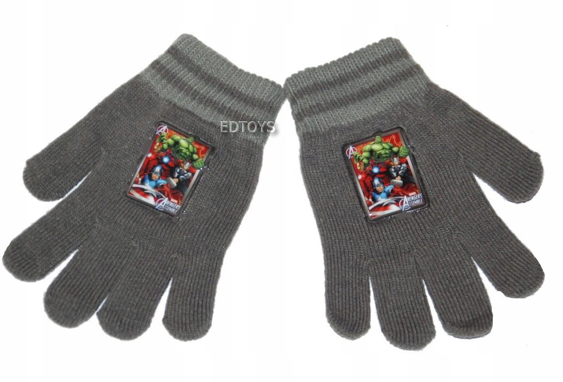 Rękawiczki zimowe akryl Disney 4-7lat AVENGERS W27