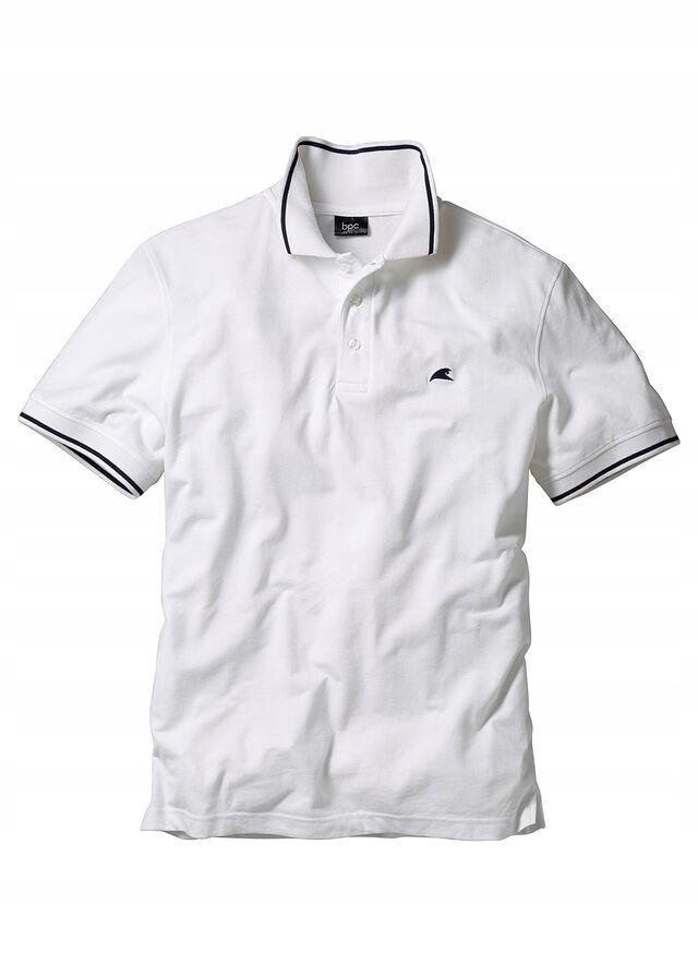 Shirt polo biały 60/62 (XXL) 964773 bonprix