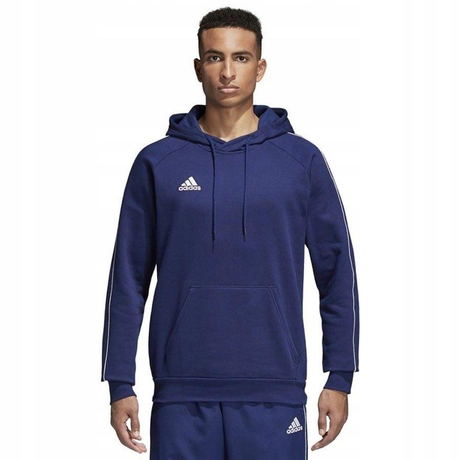 Bluza adidas Core18 Hoody CV3332 - GRANATOWY; XL