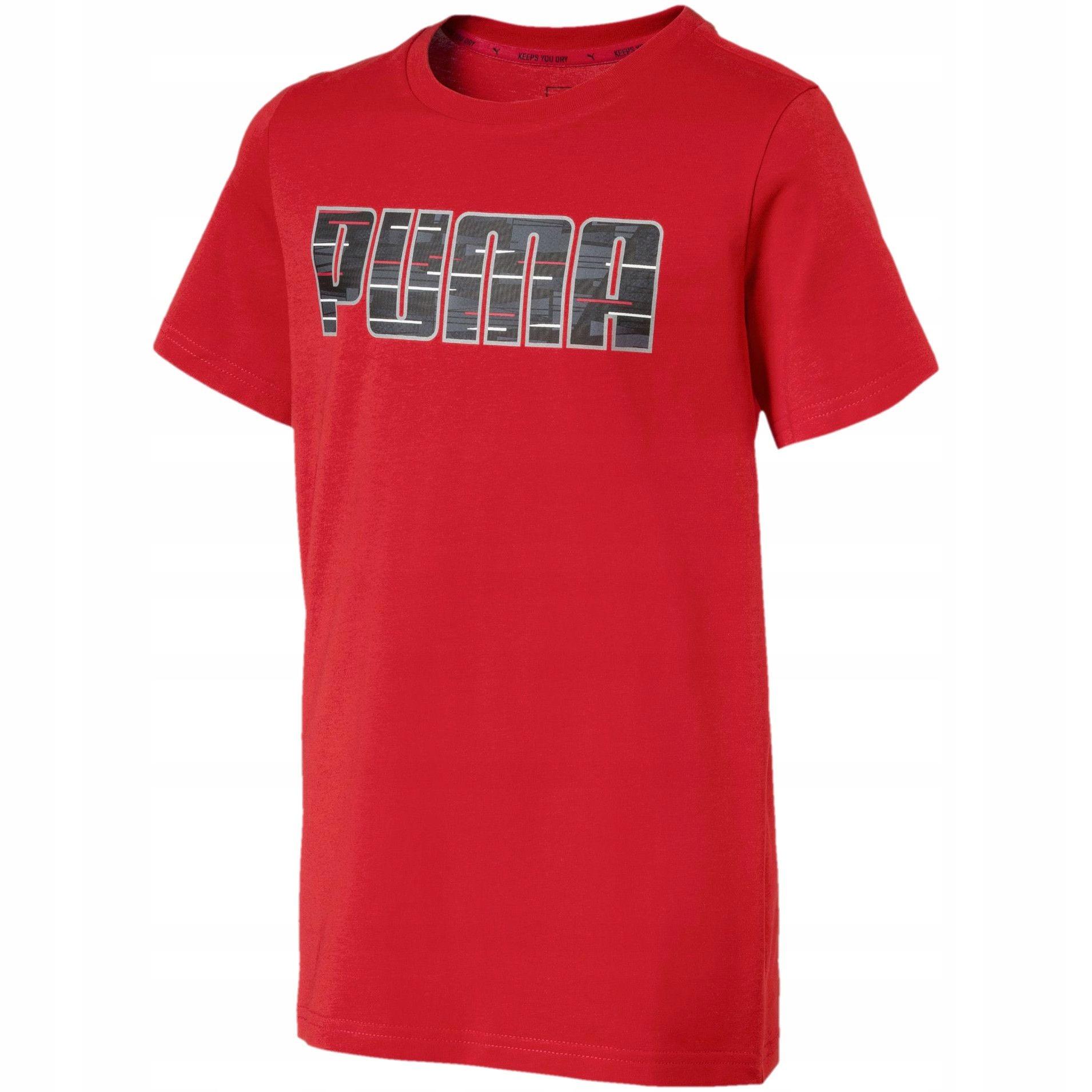 Koszulka Dziecięca PUMA JR Czerwona SPORTOWA 104