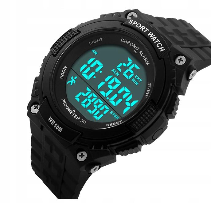 SKMEI Zegarek męski elektroniczny krokomierz 2 KOL