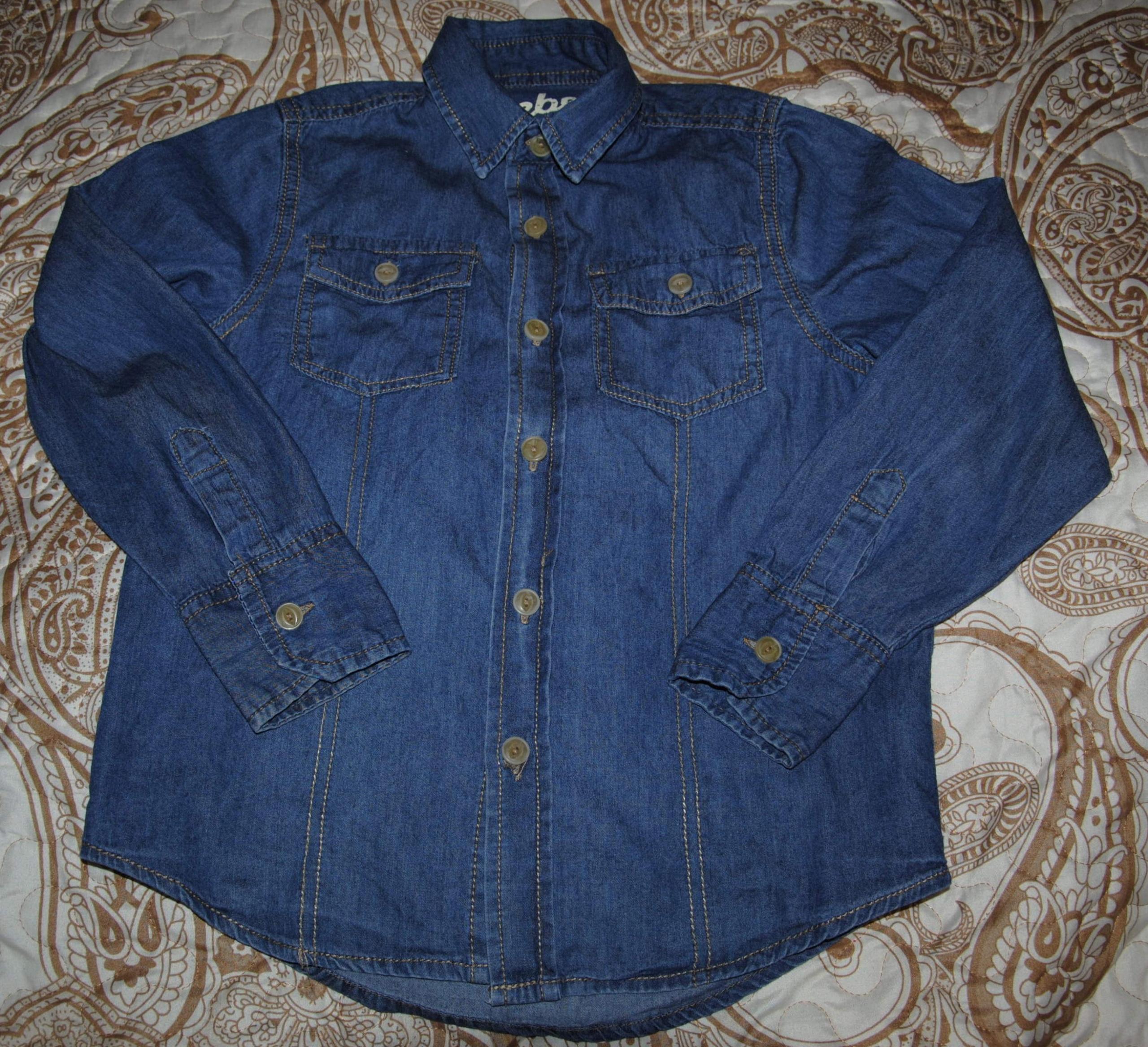 REBEL koszula miękki jeans 122 - 128