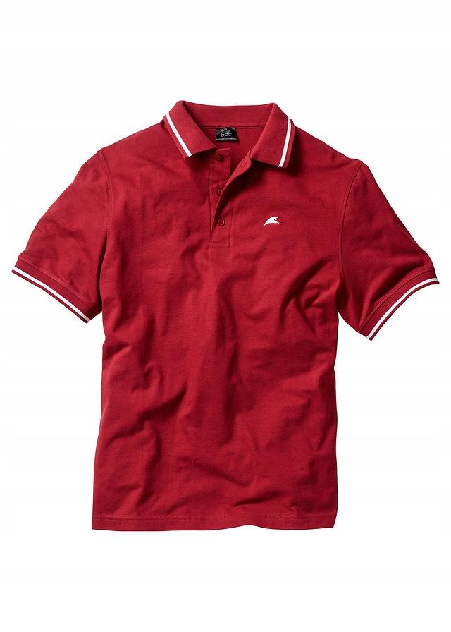Shirt polo czerwony 52/54 (L) 978244 bonprix
